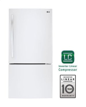 24 cu. ft. Large Capacity Swing Door Bottom Freezer Refrigerator Product Image