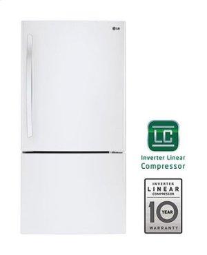 24 cu. ft. Large Capacity Swing Door Bottom Freezer Refrigerator Product Image