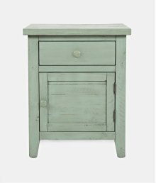 American Folklore Accent Table - Antique Sage