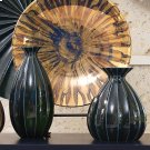 Fluted Cinched Vase-Ink-Tall Product Image