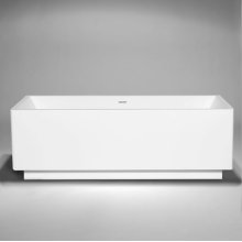 "box blustone™ freestanding or alcove rectangular tub with 4"" kick White gloss 71""x31 1/2"" x 23 1/2"""