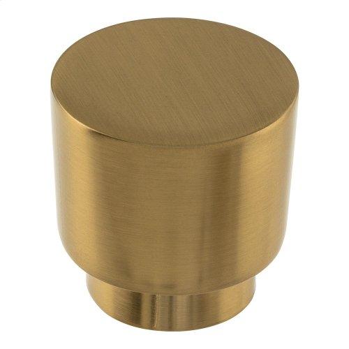 Tom Tom Knob 1 1/4 Inch - Warm Brass