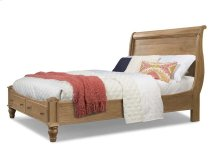 Cottage Sleigh Bed - Natural