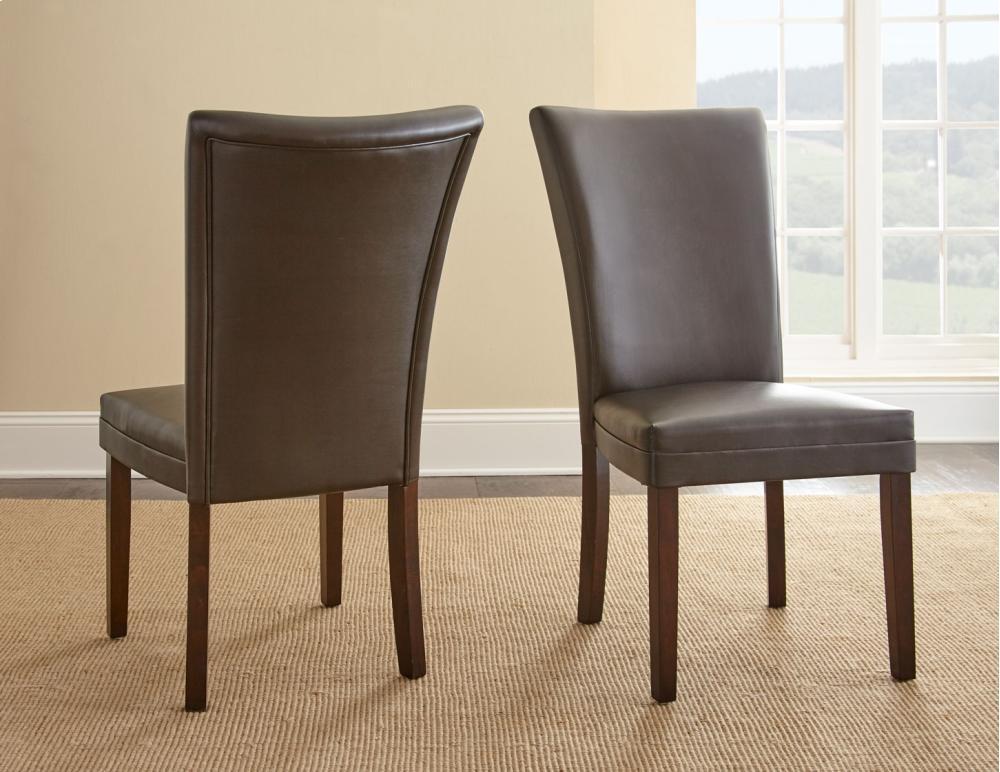 Berkley Bonded Parsons Chair, Brown, ...