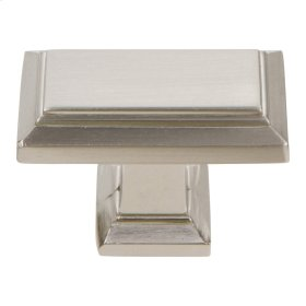Sutton Place Rectangle Knob 1 7/16 Inch - Brushed Nickel