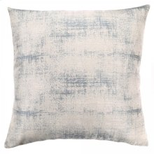 Coban Contemporary Decorative Feather and Down Throw Pillow In Sea Foam Jacquard Fabric