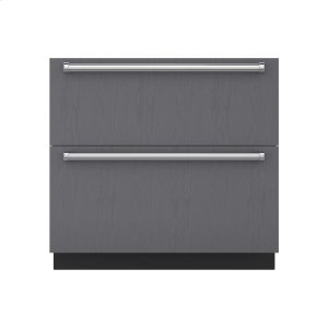 "Subzero36"" Designer Refrigerator Drawers - Panel Ready"