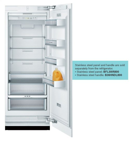 """Benchmark Series Custom Panel Built-In 30"""" Single Door Refrigerator"""