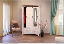 2 Drawer, 1 Sliding door, 1 Door Armoire