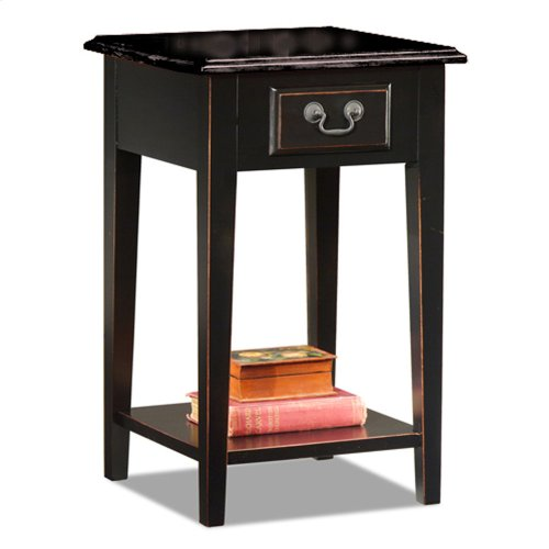 Slate Shaker Square Side Table W Top 9041 Slsl