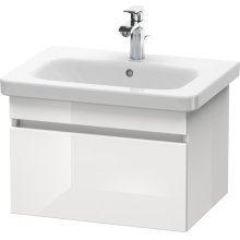 Vanity Unit Wall-mounted, White High Gloss (decor)