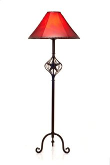 Iron Floor Lamp W/Caged Star No Shade