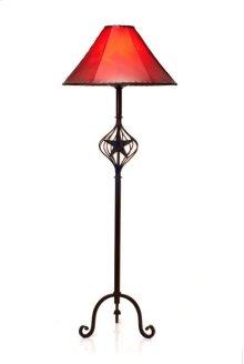 Iron Floor Lamp W/Caged Star No Shade