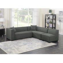 3pc Set-2 Lsf Loveseats-1 Armless Chair W/2 Pillows-gray Cinder #zw7381-5