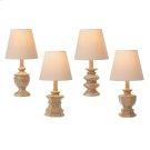Mini Antique Taupe Accent Lamp (4 asstd). 40W Max. Product Image