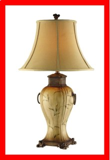 Vine Table Lamp With Neutral Softback Shade