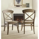 Regan - X-back Side Chair - Weathered Driftwood Finish Product Image