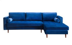 Como Navy Velvet Sectional RAF Product Image