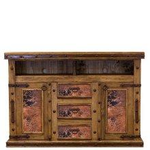 Natural Copper TV/Dresser W/Doors