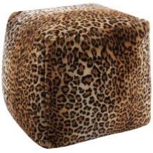 Fur Fl102 Brown 16 X 16 X 17 Poufs