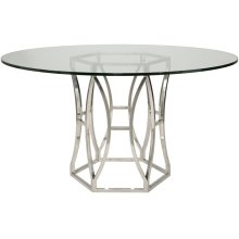 Shaw Glass Top Dining Table - Chrome