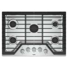 30-inch Gas Cooktop with EZ-2-Lift Hinged Cast-Iron Grates / SCRATCH & DENT