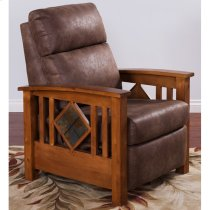 Rustic Birch Recliner W/ Slate Product Image