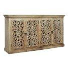 Bengal Manor Mango Wood Carved 4 Door Sideboard Product Image