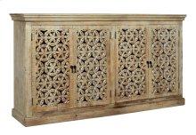 Bengal Manor Mango Wood Carved 4 Door Sideboard