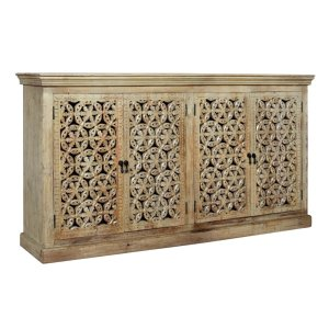 CRESTVIEW COLLECTIONSBengal Manor Mango Wood Carved 4 Door Sideboard