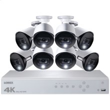 8-Channel 4K Ultra HD Security System with 8 Active Deterrence 4K Cameras
