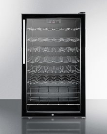 """ADA Compliant 20"""" Wide Wine Cellar for Built-in Use, With Lock, Digital Thermostat, and Pro Thin Handle"""