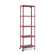 Red Etagere Bookshelf