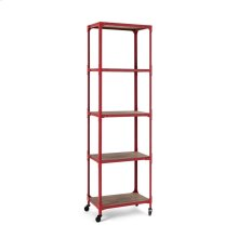 Red Etagere Bookshelf