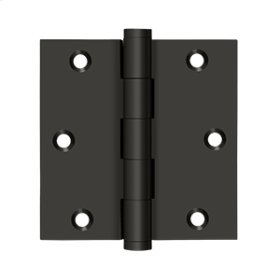 """3 1/2""""x 3 1/2"""" Square Hinge, Residential - Oil-rubbed Bronze"""