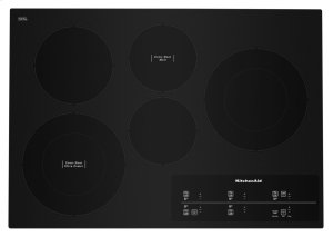 """30"""" Electric Cooktop with 5 Elements and Touch-Activated Controls - Black Product Image"""