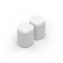 White- A pair of powerful smart speakers for rich sound in up to two rooms.