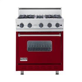"Apple Red 30"" Open Burner Range - VGIC (30"" wide, four burners)"