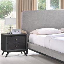 Bethany 2 Piece Queen Bedroom Set in Black Gray