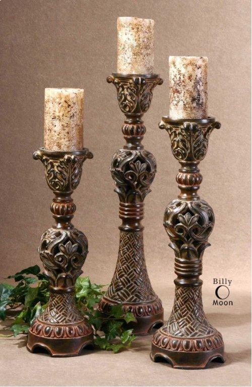 Rosina Candleholders, S/3