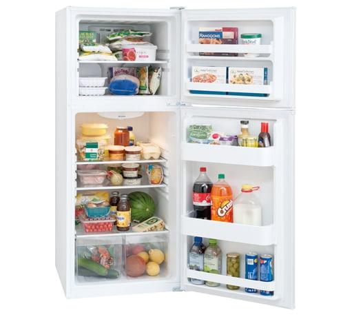 FFET1222QW Frigidaire 12 Cu. Ft. Top Freezer Apartment-Size ...
