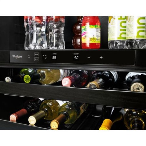 Whirlpool® 24-inch Wide Undercounter Beverage Center - 5.2 cu. ft. - Fingerprint Resistant Stainless Steel