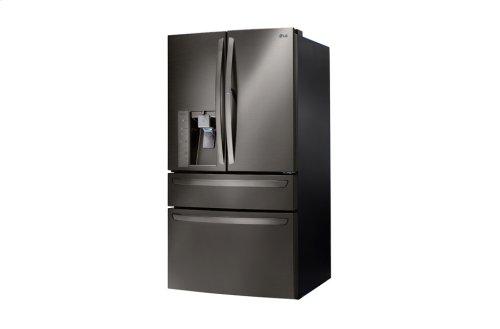 LG Black Stainless Steel Series 30 cu. ft. 4- Door French Door Refrigerator w/CustomChill® Drawer