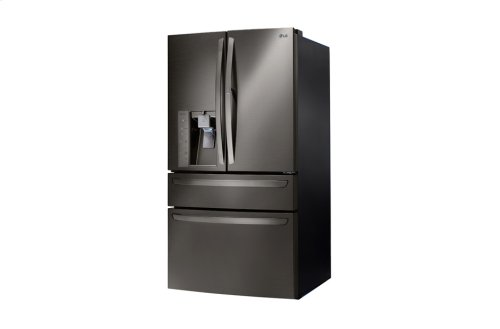 LG Black Stainless Steel Series 30 cu. ft. 4- Door French Door Refrigerator w/CustomChill® Drawer