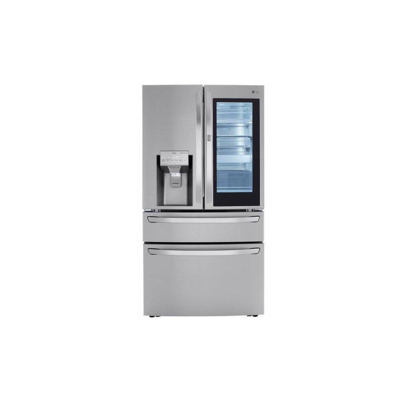 23 cu. ft. Smart wi-fi Enabled InstaView™ Door-in-Door® Counter-Depth Refrigerator with Craft Ice™ Maker