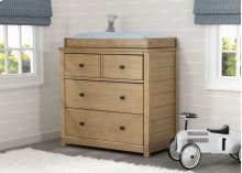 Monterey 4 Drawer Dresser with Changing Top - Rustic Rye (754)