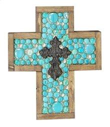 Small Turq Jeweled Cross