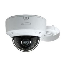 HD-TVI 2MP IR Motorized Dome Camera with Junction Box, 2.8-12mm motorized lens, white housing