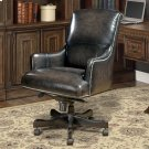 DC#106 Smoke Wipe Leather Desk Chair Product Image