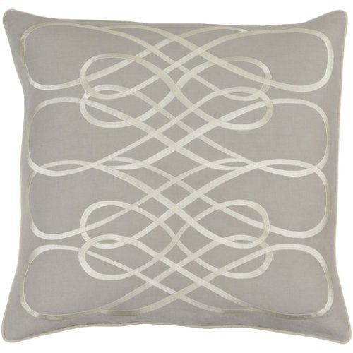 """Leah LAH-003 22"""" x 22"""" Pillow Shell with Polyester Insert"""